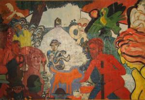Adam and Eve in Eastport, 48 x 70, 1970, A2, ID 7