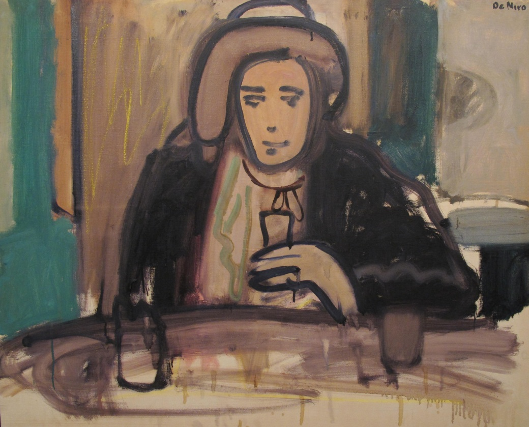 "Robert De Niro Sr. ""Garbo as Anna Christie,"" 1965, Oil on canvas, 40 x 50 in."