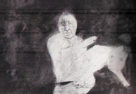 Leonel Góngora, from the series The Marquis de Sade in Columbia, 1963, mixed media, 11 x 13 in.