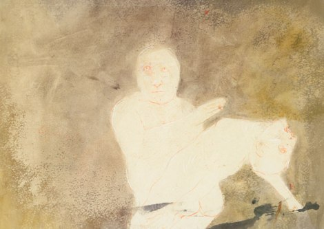 Leonel Góngora,  Exorcismo (from the series The Marquis de Sade in Columbia), 1963, mixed media, 11 x 13 in.