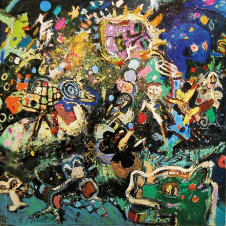 Jau Milder, Space Dreams #35, 1968, Oil on Canvas,