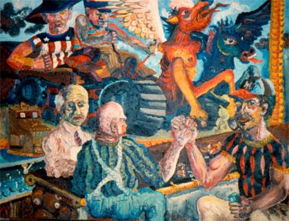 Peter Dean, Peter Dean, Barroom, c.1970, 68 x 102 in.