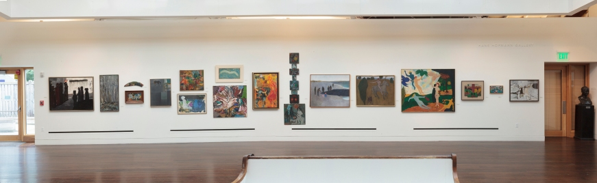 "Installation shot of ""Pioneers from Provincetown: The Roots of Figurative Expressionism"" curated by Adam Zucker at the Provincetown Art Association and Museum during the summer of 2013."