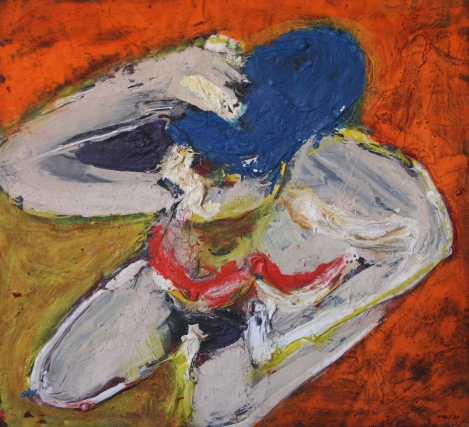 """Rhoda,"" 1966, acrylic on paper mounted on panel, 20 x 22"", Estate of George McNeil, Courtesy of ACME Fine Art"