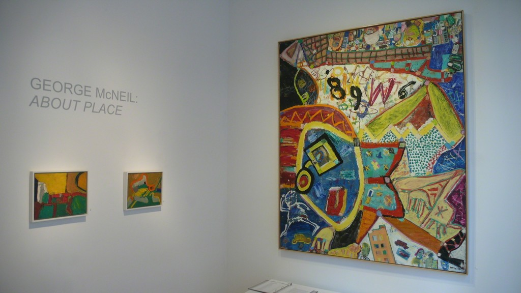 Installation view of George McNeil: About Place at ACME Fine Art in Boston