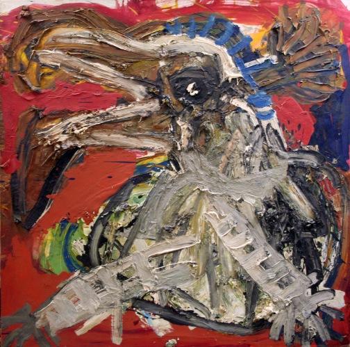 Jay Milder, Bird Cloud, c. 1959, Oil on canvas