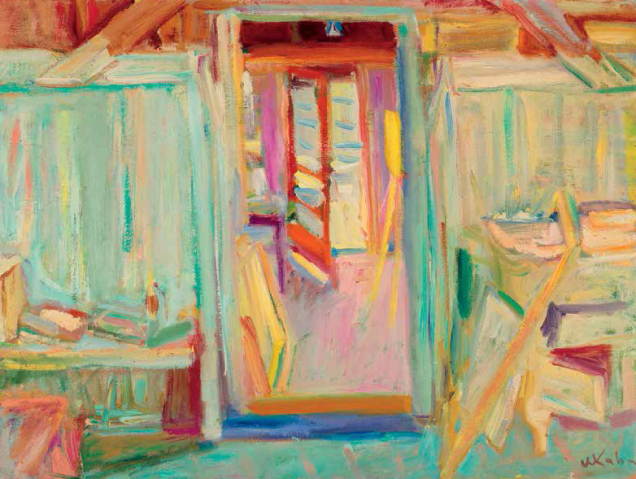 9.Wolf Kahn, Our Studio in Provincetown, 1956, oil on canvas, 18 x 24 inches