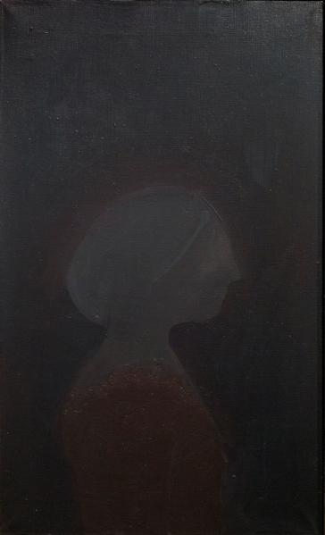 Selina Trieff, Female Head, N.D., Oil on canvas, 25 x 15 inches