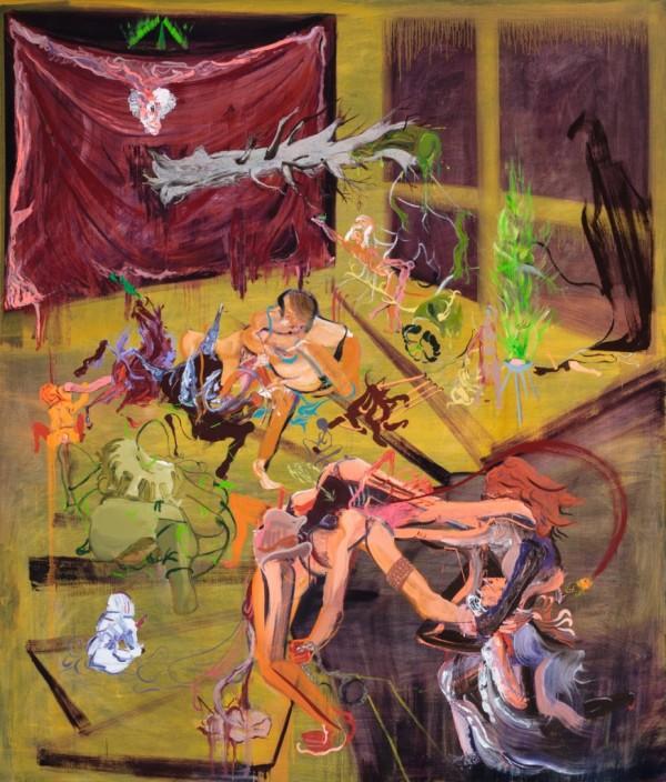 Leonard Reibstein, Engagement, 2014, oil on linen, 84 x 72