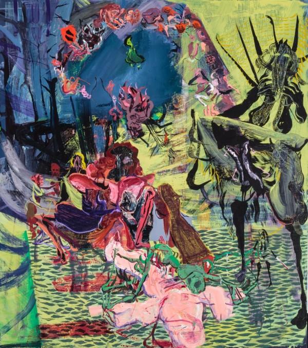 Leonard Reibstein, Crowning, 2014, oil on linen, 75 x 63