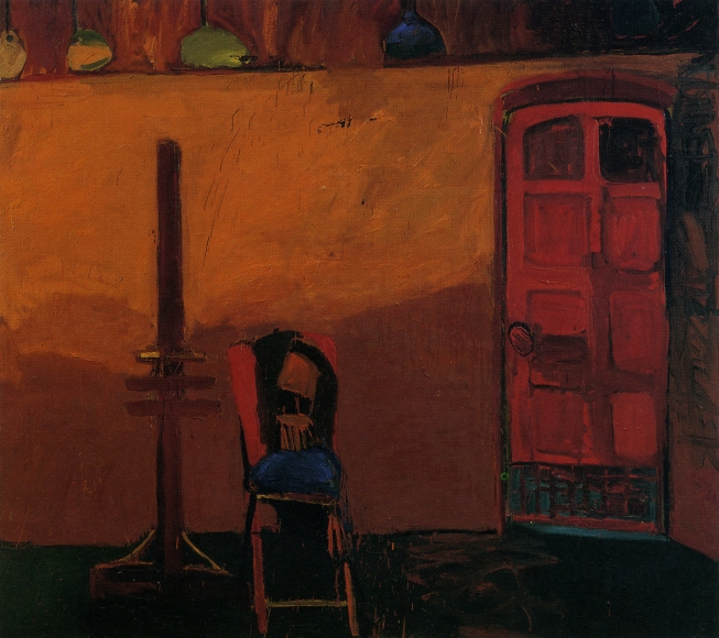 Joan Brown, Portrait of a Chair, 1958, Oil on canvas, 78 x 85 1/2 inches