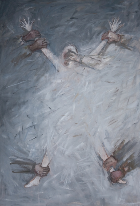 Neutralizing the Enemy, 84x58, oil on canvas, 2010