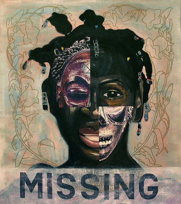 Missing (part 1), 2006, oil & collage on canvas