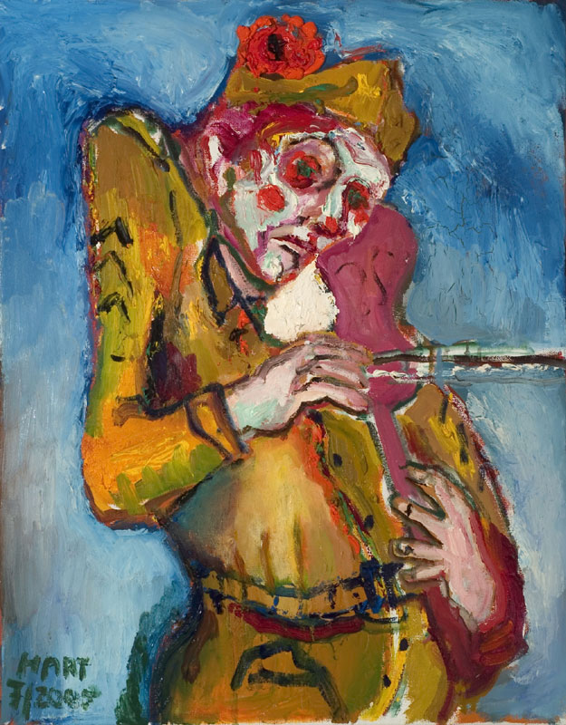 violinist, oil on canvas, 2005, size: 24