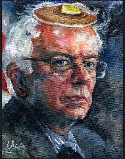 Dan Lacey, Bernie Sanders Pancake (2015) (via the artist's Flickr)