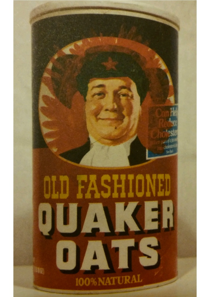 Zhang Hongtu, Quaker Oats Mao, 1987. From the series Long Live Chairman Mao. Acrylic on Quaker Oats box. 9.75 x 5 in. Private collection