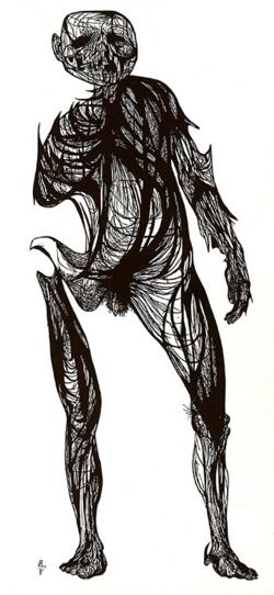 Leonard Baskin, The Hydrogen Man, 1954, Woodcut